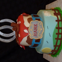 Cowboy Cake Fondant with Fondant/Tylose Accents. Thanks for all the inspirational cakes on CC, I borrowed ideas from several different cakes on CC and...