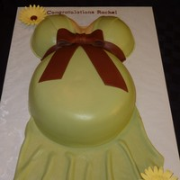 Pregnant Belly Cake All fondant, first pregnant belly cake to make. Inspiration came from all the great cakes on CC. TFL.