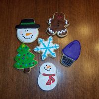 Happy Holidays Sugar Cookie with Toba's Glaze. TFL