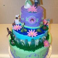 Princess And The Frog Princess and the Frog cake for my daughter's 5th birthday.