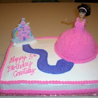 Doll Cake I made this for a friend's daughter's birthday.