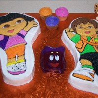 Dora And Diego I made this for my daughter's 3rd birthday party.