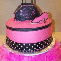 Purse Cake I made this cake for my daughter's 8th birthday party. We had a parisian themed dress-up tea party. It is strawberry cake with...