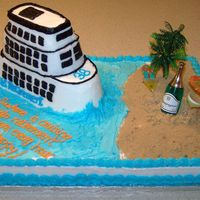 Retirement Cruise Ship Cake