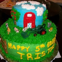 Tractor Cake Thanks to all the cakes I got ideas From!!!