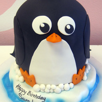 3D Penguin Cake Just hangin' out on his little piece of ice.