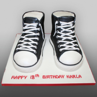 All Star Sneakers Birthday Cake Life size and realistic edible sneakers birthday cake :-)