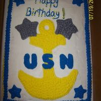 Navy Cake Made for an ex Navy man.