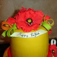 Red Poppy Cake Topper