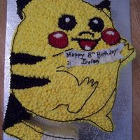 Pokemon Pikachu Buttercream Cake Yay, a paying customer and so much fun to do...