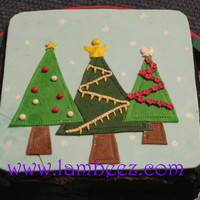 Xmas Cake Dark chocolate with mint cream filling