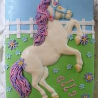 Horse Cake Horse is white chocolate. Everything else is fondant and gumpaste. Got the idea from this site but I don't remember who did the...