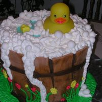 Rubber Ducky This was my first cake I made for a baby shower. It took me 6 hours to make.