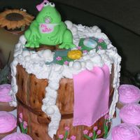 Froggy Baby Shower Cake I made this cake a day before the baby shower. Since the girl ordering the cake worked at the school I didn't ask her for an advance....