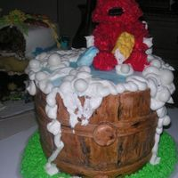 "Elmo Birthday Cake I was asked to make an edible Elmo and I said ""sure I can make that"", I had no clue how to make him. I started building him from..."
