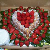 Spring Strawberries Sour cream pound cake with fresh strawberries. Served with cream cheese dipping sauce.