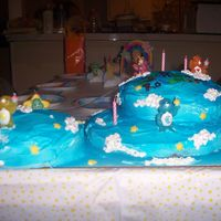 Birthday carebear birthday cake