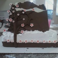 A Cake For My Bro chocolate clay, cherry blossom