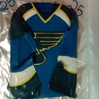 St. Louis Blues Jersey First attempt at a jersey, didn't turn out too bad. I need to work quicker so I don't get elephant skin fondant though. TFL!