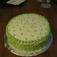 Green Dots This was my first attempt at using BC and piping. Any tips would be appreciated! I used AgentCakeBakers's recipe and it was very tasty...