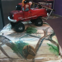 Pick Up Truck Cake These are a girl's favorite things. :)