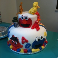 Sesame Street/ Star Wars Two of my sons, my ten year old and my four year old, have a birthday three days apart. I didn't have time to make two cakes so I made...