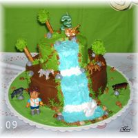 Vanilla And Chocolate Cakes... **bt. Cream** My first jungle cake, (go Diego go) I made this cake for my Godson 3rd birthday.