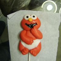 Baby Elmo Lollipop  I was asked to make these for a first birthday party....just had to give him a try even though I will no longer be making them for the...