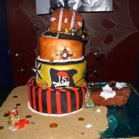I Made This Cake For A Pirate Themed Quinceanero It Was The Day After Halloween And Everyone Was Dressed Accordingly Fun Cake And Fun Part... I made this cake for a Pirate Themed Quinceañero! It was the day after Halloween and everyone was dressed accordingly. Fun cake...