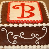Brought To You By The Letter 'b'   Made for a housewarming party. Choc/choc with buttercream accent and border