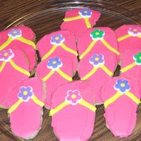 Flip Flop Cookies I made these for my Daughters 3rd. birthday. She loves flip flops, she wears them all day.