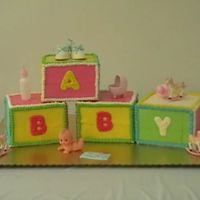 Baby Blocks This is a picture of the Baby Shower cake I did for my cousin. It was fun to make, time consuming, but fun!!!!