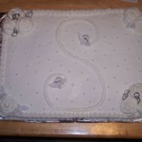 Initial S I was asked to do a cake for a wedding shower, another first, and no one knew the colors or anything...we did figure out the last name...so...