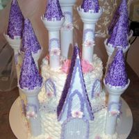 Princess Castle Birthday Cake I did this for my baby girl's 3rd birthday party today. I used the Wilton romantic castle kit and did it pretty similar to what they...