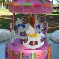 Carousel - 1St Birthday Cake I made this cake for my daughter's first birthday - it is the first cake i've ever made. I think I did a pretty good job!