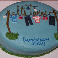 Twins Clothesline Cake Here's my take on the ever-popular clothesline baby shower cake. It's for my sister-in-law, who is expecting twin boys!!! The...