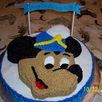 Mickey Mouse This is a vanilla creamcheese pound cake with a chocolate fudge swirl, buttercream icing.