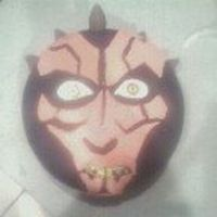 Darth Maul Cake I have a friend who secretly loves Star Wars! Sorry for the horribly small photo, I took it on my camera phone (I was running late, as...