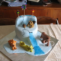 Ice Age Cake I made this cake for my daughters 3rd birthday last year. The figures were made of fondant. It was my first attempt at making fondant...