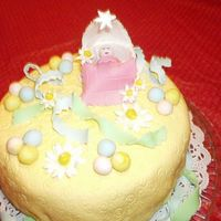 Close Up Of Baby In Bassinet CLOSE UP OF MY FIRST BABY SHOWER CAKE