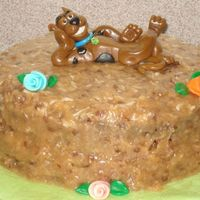 Scooby Dooby Doo!! I used the Debbie Brown book for this but not her design. I really like modeling the MMF/ tyrose figures! German chocolate cake, frosting...