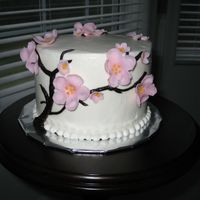 "Cherry Blossom 6"" customer wanted a small cake - something pretty with flowers, for a friend's birthday. I have made 4 cakes with this design since...."