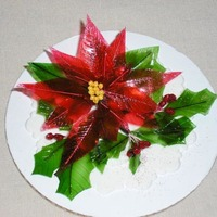 Gelatin Poinsettia And Holly Berries More of my work with gelatin. I'm loving this technique!!