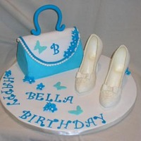 "Bella's Purse Cake Requested by my favorite six-year-old, who, when she found out I did her caramel apple cake last year told me ""when I turn six I want..."