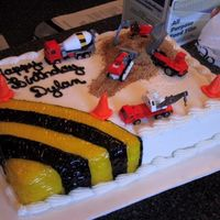 Construction Zone construction site cake for a 3 year old!