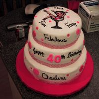 Betty Boop Stacked Cake   This was done for my sister in law who just turned 40.