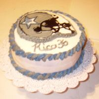 Dallas Cowboys Brownie Cake This is a birthday cake that I made for my husband. He loves the Dallas Cowboys and brownies. So I just combined them!! Helmet is a FBCT