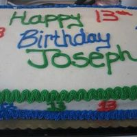 13 Year Old Birthday this is a cake I made for a 13 year old boy. When asked what he would like all he said was Red, Blue, and Green. So this is what I came up...