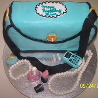 Purse Cake For Lisa Made for my niece. All excessaries are fondant.