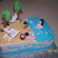 50Th Birthday Tropical Beach Person wanted a beach scene with a tropical feel